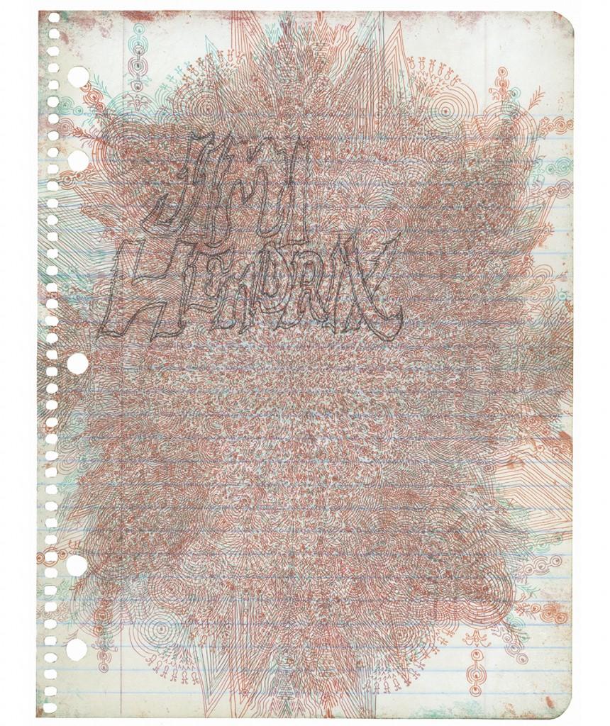 """<em>jimi,</em> archival inkjet & lithography, 19"""" x 15.5"""""""