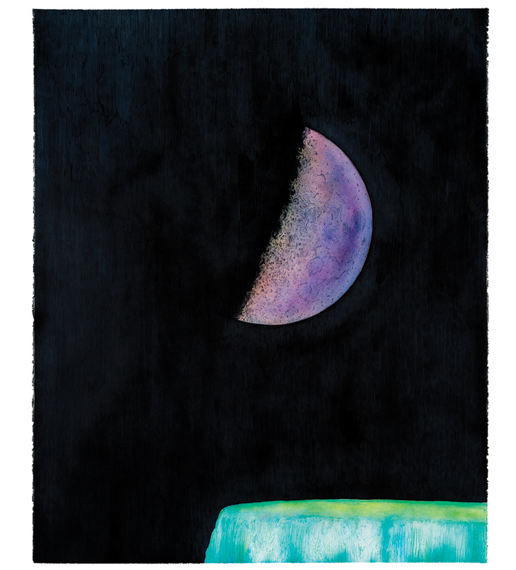 &nbsp;&nbsp;&nbsp;&nbsp;&nbsp;&nbsp;&nbsp;&nbsp;&nbsp;<em>seven days</em> colored pencil, watercolor and acrylic paint, 62