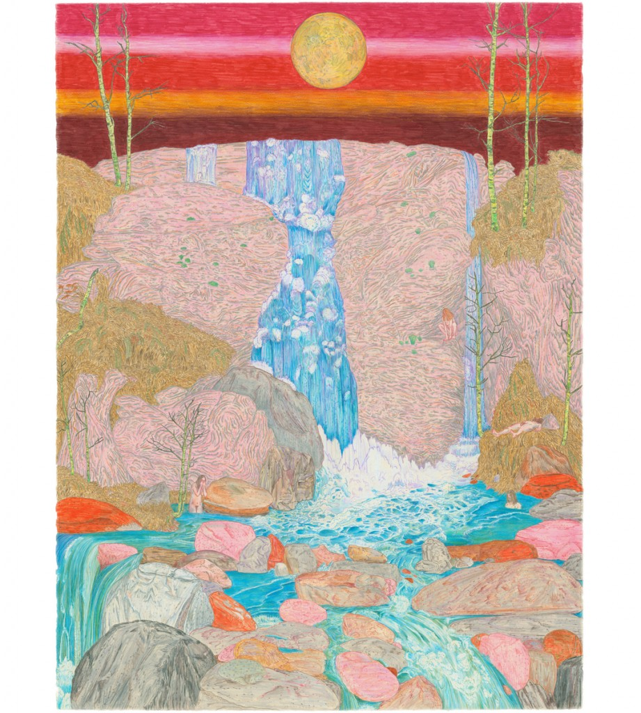 &nbsp;&nbsp;&nbsp;&nbsp;&nbsp;&nbsp;&nbsp;&nbsp;&nbsp;&nbsp;&nbsp;&nbsp;<em>night falls,</em> colored pencil, 40