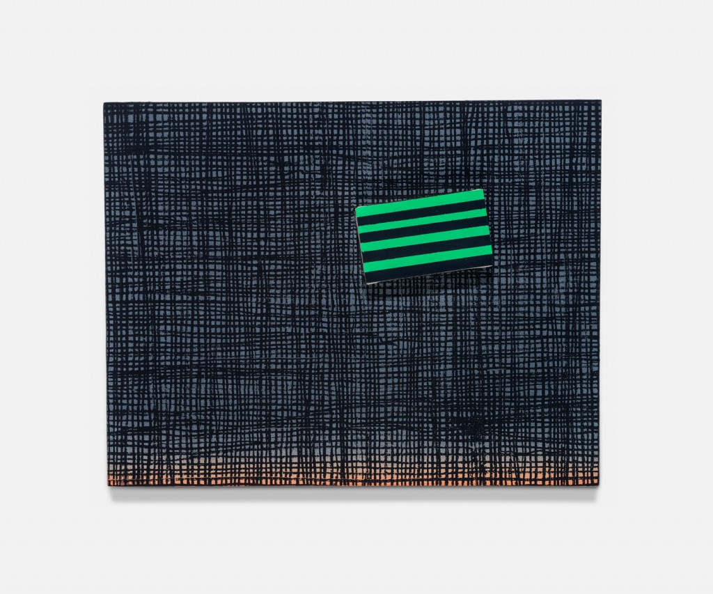 &nbsp;<em>the flag,</em> acrylic on linen, 12.5
