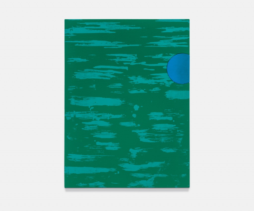 &nbsp;<em>green sea, blue moon,</em> acrylic on linen, 15